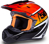 509 Snocross Helmet - BLACK FIRE
