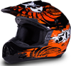 509 Snocross Helmet - BLACK-ORANGE