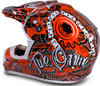 509 Snocross Helmet - SNOCROSS ORANGE - Back View