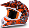 509 Snocross Helmet - SNOCROSS ORANGE - Front View