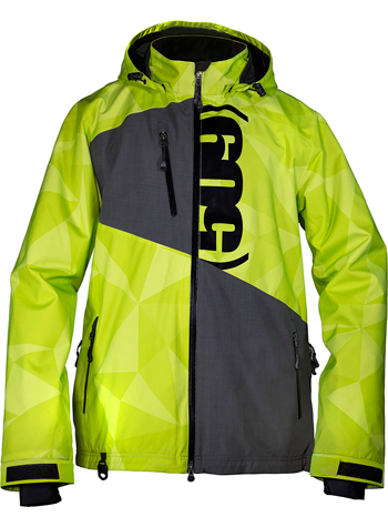 509 EVOLVE JACKET - LIME (2018) - Front View