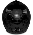 509 Evolution Helmet - Matte Black - Back View