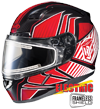 HJC CL-17 REDLINE HELMET w/ELECTRIC DUAL LENS SHIELD (2015)