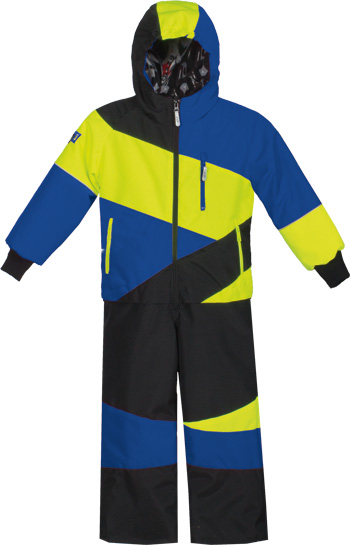 CHOKO Kiddies CDI 1-PIECE SNOW SUIT - Royal-Safety Lime