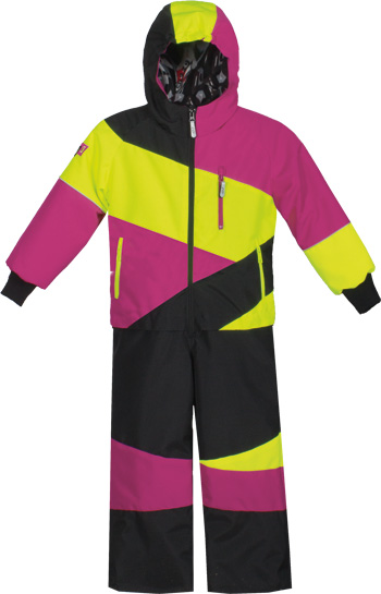 CHOKO Junior CDI 1-PIECE SNOW SUIT - Fuchsia-Safety Lime