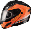 GMAX GM54S TERRAIN MODULAR HELMET w/DUAL LENS SHIELD - Black-Hi Vis Orange