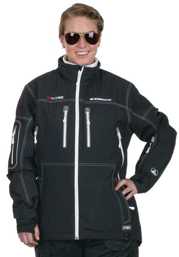 CHOKO ICEROCK Women's APEX SHELL JACKET  - Black-White