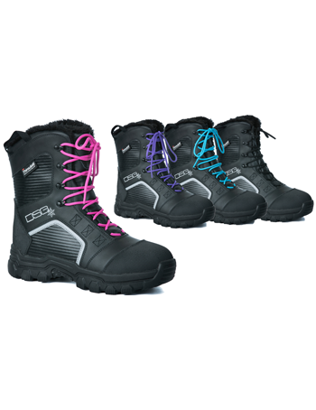 DSG Women's RIME BOOT (2018) by Divas Snow Gear - 4 Laces Included