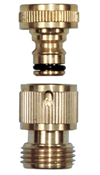 Camco Quick Hose Connect - Brass - 20135