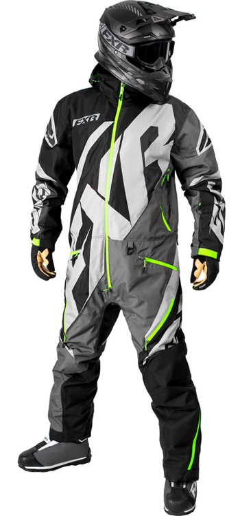 FXR CX LITE MONOSUIT (2018) - Black-Charcoal-Grey-Lime