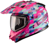 DSG GMAX GM11 CHECKED OUT HELMET - PINK (2018) by Divas Snow Gear