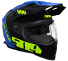 509 DELTA R3 2.0 HELMET - HI-VIS BLUE w/ELECTRIC SHIELD (2019)