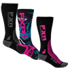 FXR Women's ATHLETIC SOCK 3-PAIR (2016)