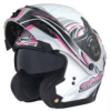 GMAX GM54S FULL FACE MODULAR CYCLE HELMET - PINK RIBBON RIDERS