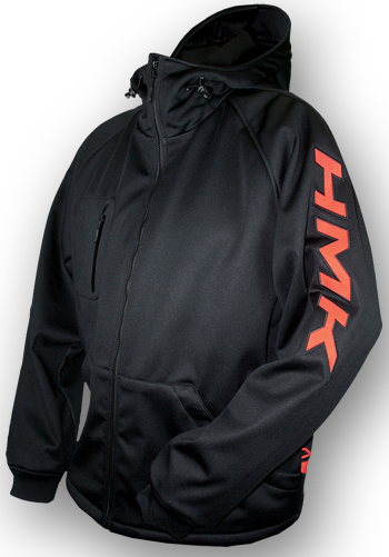 HMK HOODED TECH SHELL (2017) - Black/Orange