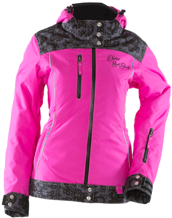 DSG Lace Collection Jacket by Divas Snow Gear - Pink
