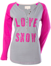 DSG LOVE SNOW HENLEY LS TEE by Divas Snow Gear