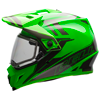 BELL MX-9 ADVENTURE HELMET - GREEN-TITANIUM w/Electric Shield