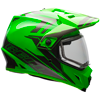 BELL MX-9 ADVENTURE HELMET - GREEN-TITANIUM w/Dual Lens Shield