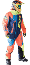 FXR MAVERICK LITE MONOSUIT - Navy-Orange-Hi Vis-Blue