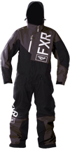 FXR Youth SQUADRON MONOSUIT (2018) - Charcoal-Black-White
