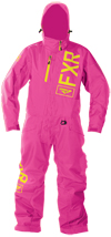 FXR Youth SQUADRON MONOSUIT (2018) - Electric Pink-Hi Vis