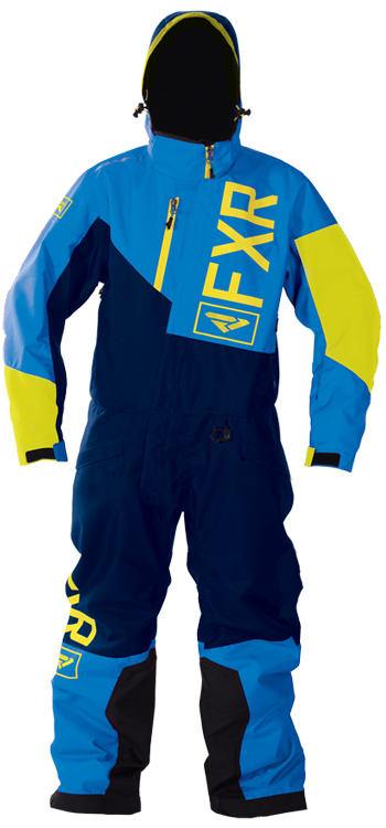 FXR Youth SQUADRON MONOSUIT (2018) - Blue-Navy-Hi Vis