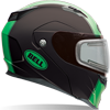 BELL REVOLVER EVO HELMET - MATTE RALLY GREEN w/Electric Shield