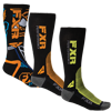 FXR TURBO ATHLETIC SOCK 3-PAIR (2016)
