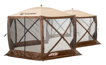 CLAM EXCURSION SCREEN SHELTER - BROWN/TAN/BLACK (10731)