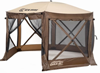 CLAM PAVILION SCREEN SHELTER - BROWN/TAN (9882)