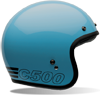 BELL CUSTOM 500 HELMET - RETRO BLUE