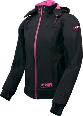 FXR Women's DRIFT Tri-Laminate Hoody - Black-Fuchsia