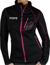FXR Women's Elevation Full-Zip Fleece - Black-Fuchsia