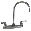 "Empire Brass Company 8"" Gooseneck 2-Handle Deck Faucet - Chrome -U-YCH800GS"