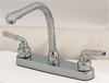 "Empire Brass Company 8"" Gooseneck Spout Deck Faucet - Chrome - U-YCH800RS"