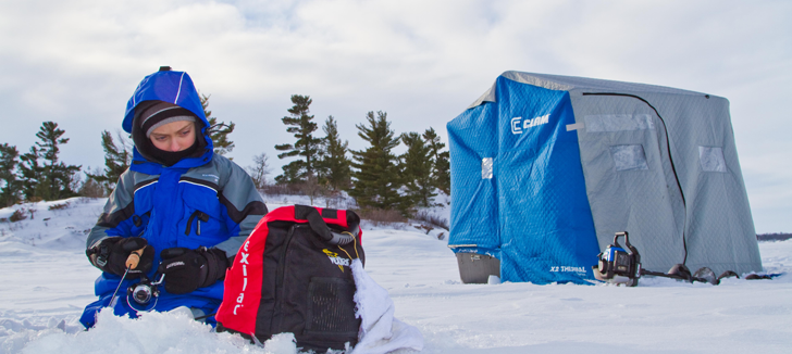 Ice Fishing - Flip-Over Shelters
