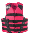 FULL THROTTLE ADULT DUAL-SIZED NYLON WATER SPORTS VEST - PINK