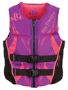 FULL THROTTLE WOMEN'S HINGED RAPID-DRY FLEX-BACK VEST - PURPLE