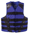 FULL THROTTLE ADULT DUAL SIZED NYLON WATER SPORTS VEST - BLUE/BLACK