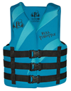 FULL THROTTLE ADULT DUAL-SIZED RAPID-DRY VEST - AQUA