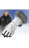CHOKO Women's NYLON GLOVES ( - White-Breast Cancer Special Edition White