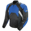 JOE ROCKET MENS RADAR LEATHER JACKET - <em>Hybrid</em> - Blue/Black