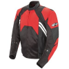 JOE ROCKET MENS RADAR LEATHER JACKET - <em>Hybrid</em> - Red/Black