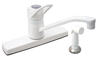 "Phoenix Products 8"" Single Lever Deck Faucet With Spray - WHITE - P1173-I"