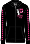 Slednecks Ladies Live to Ride Zip Up Hoody - Black