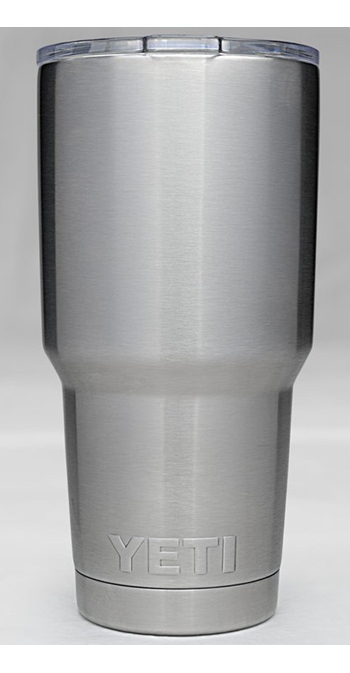 YETI 20OZ STAINLESS STEEL VACUUM INSULATED RAMBLER W/ LID - 20 Oz
